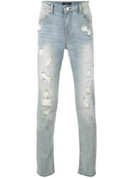 Stampd Skinny Distressed Jeans Men Cotton Spandex Elastane 32 Blue