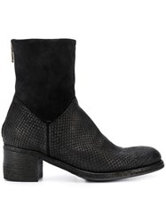 Pantanetti Snakeskin Effect Boots Black
