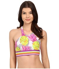 Trina Turk Pineapples Sports Bra Multi Women's Bra