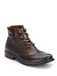 Joe's Jeans Leather Wingtip Boots Brown