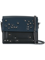 Steffen Schraut Studded Crossbody Bag Blue