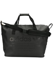 Adidas Originals Logo Duffel Bag Men Polyester Polyurethane One Size Black