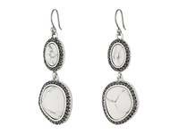 Lucky Brand Pebble Double Drop Earrings Silver Earring