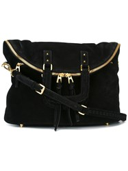Barbara Bui Gold Tone Hardware Shoulder Bag Black
