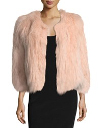 Belle Fare Silver Fox Short Bolero Coat Blush