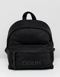 Hugo Logo Backpack Black