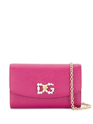 Dolce And Gabbana Crystal Embellished Logo Clutch 60