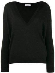 Brunello Cucinelli V Neck Jumper Black
