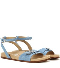 Stella Mccartney Denim Sandals Blue