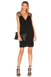 Bcbgmaxazria V Neck Shift Dress Black
