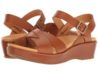 Kork Ease Myrna 2.0 Rust Full Grain Women's Wedge Shoes Tan