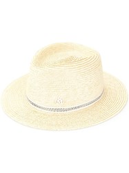 Maison Michel Andre Straw Hat Yellow