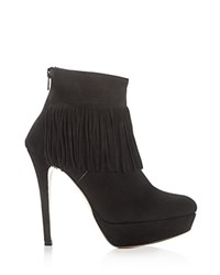 Charles David Lula Fringe High Heel Platform Booties Compare At 420 Black