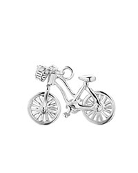 Jet Set Candy Bicycle Charm Silver