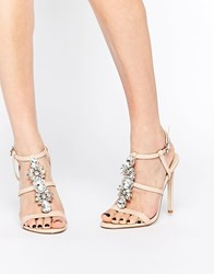 Asos Heaven Heeled Sandals Beige