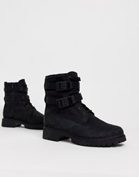 Timberland Jayne Double Buckle Ankle Boots In Black