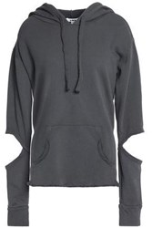 Lna Cutout French Cotton Terry Hoodie Anthracite