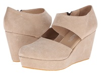 Cordani Fame Natural Vintage Leather Women's Wedge Shoes Beige