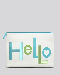 Jonathan Adler Pouch Hello And Bye Bye Light Grey