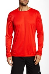 Asics Printed Long Sleeve Top Red