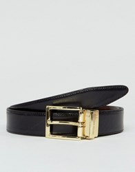 Peter Werth Reversible Leather Belt In Black And Brown