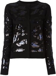 Sibling Sequin Embellished Cardigan Black