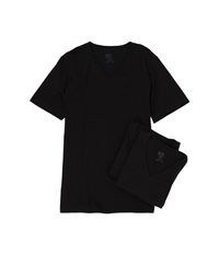 Jockey Cotton V Neck T Shirt 3 Pack Black Men's Underwear