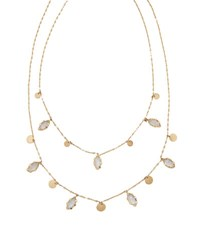 Lana 14K Dream Boheme Gypsy Rainbow Moonstone Necklace Gold