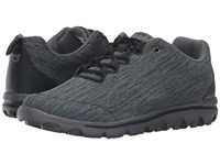 Propet Travelactiv Black Grey Heather Women's Shoes Gray