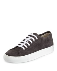 Common Projects Achilles Suede Low Top Sneaker Dark Gray Size 42.0B 12.0B