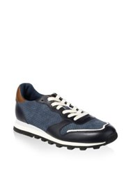 Coach Perforated Leather Trim Running Sneakers Mzs