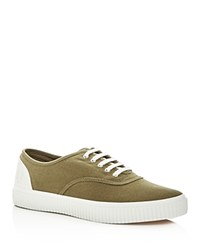 Fred Perry Men's Barson Canvas Lace Up Sneakers British Olive Green