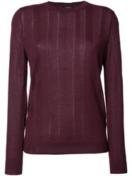A.P.C. Knitted Sweater Pink Purple