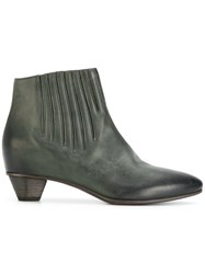 Roberto Del Carlo Stitch Detail Ankle Boots Calf Leather Leather Green