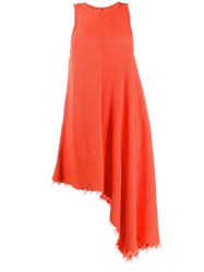 Unravel Project Ribbed Dress Orange