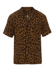 Marc Jacobs Leopard Print Short Sleeved Shirt Gold Multi