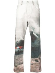 Lost Daze Crash Loose Denim Jeans White