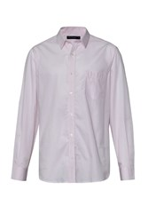 French Connection Men's Co Micro Stripe Shirt Pink