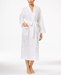 Charter Club Embroidered Long Wrap Robe Only At Macy's Bright White