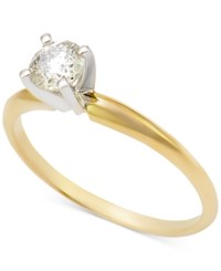 Macy's Diamond Solitaire Engagement Ring 1 2 Ct. T.W. In 14K Gold Or 14K White Gold Yellow Gold