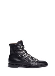 Givenchy 'K Line' Stud Leather Buckle Boots Black
