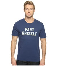 Life Is Good Part Grizzly Smooth Tee Darkest Blue Men's T Shirt