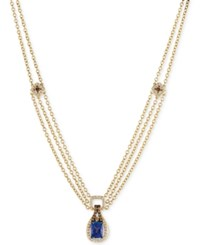 Le Vian Chocolatier Tanzanite 2 Ct. T.W. And Diamond 1 1 10 Ct. T.W. Pendant Necklace In 14K Gold Yellow Gold
