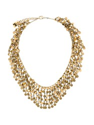 Rosantica Fred Chain And Sequin Necklace Gold
