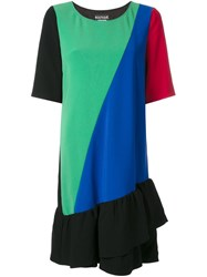 Boutique Moschino Panelled Ruffle Dress Multicolour