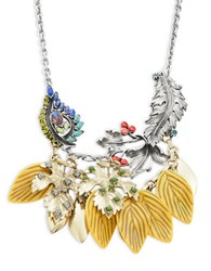 Gerard Yosca Leaf Drop Necklace Yellow