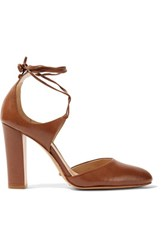 Schutz Maikon Leather Pumps Brown
