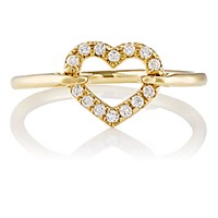 Finn Women's White Diamond Open Heart Ring No Color