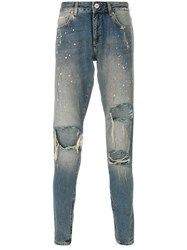 Represent Hand Destroyed Jeans Cotton Blue