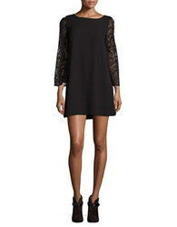 Bb Dakota Boatneck Lace Dress Black